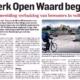 Werk Open Waard begint, tijdelijke huisvesting Open Waard